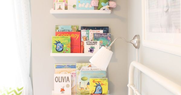 Kids room or nursery book shelving idea