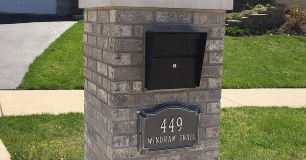Finish Building My Mailbox I Used Aztec White Brick
