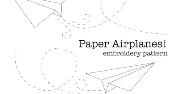 Free Paper Airplane Embroidery Pattern Blue Is For Boy