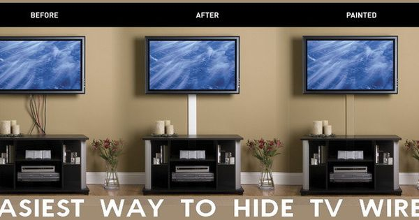 easiest way to hide flat panel tv wires house ideas. Black Bedroom Furniture Sets. Home Design Ideas