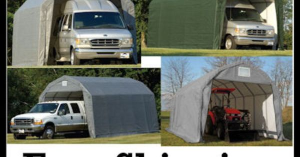 Semi Truck Portable Shelter : Weather shield portable garage shelter heavy duty barn