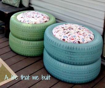 Diy Tire Seat A Life That We Built In 2020 Repurposed Tires Diy Projects Tire Seats Diy Projects Yard
