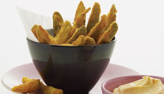 Fried Pickles with Spicy Mayonnaise | Recipe | Fried Pickles ...