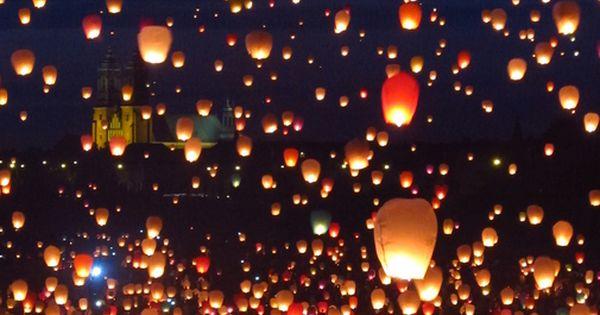 CAPS sky lantern festival, tuscaloosa april ish
