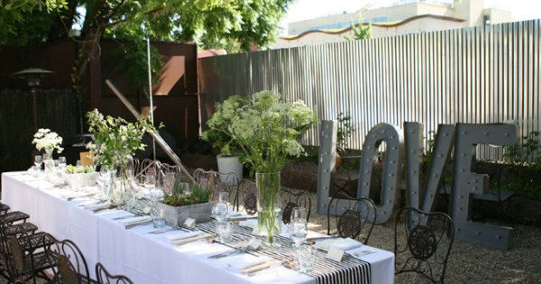 Combine garden and industrial elements. Photography by leahleephotograph..., Floral Design by dragonflyhealdsbu...