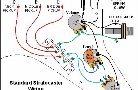 standard stratocaster wiring diagram electronics pinterest guitars guitar building and. Black Bedroom Furniture Sets. Home Design Ideas