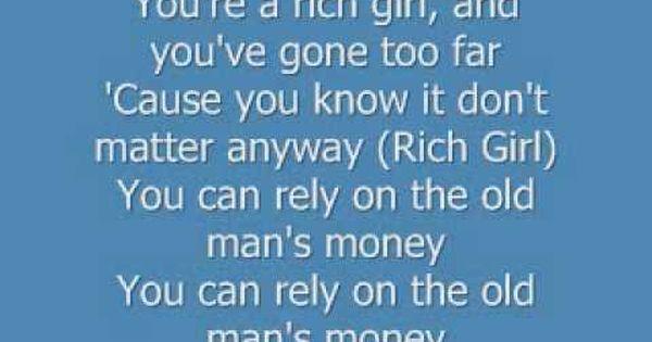 Hall And Oates Rich Girl Rich Girl Song Hall Oates Rich Girl Lyrics