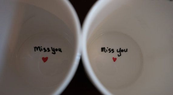 These custom mugs makes a perfect Going Away Gift, Long Distance Relationship