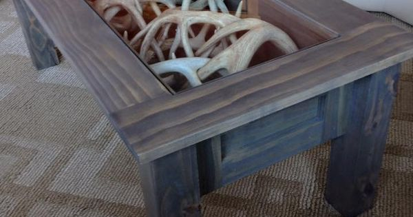 Coffee Table I Made To Display My Shed Antlers Antlers