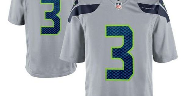 ... Mens Seattle Seahawks 3 Russell Wilson Grey Nike NFL Vapor Untouchable  Limited Jersey Russell wilson d30538197