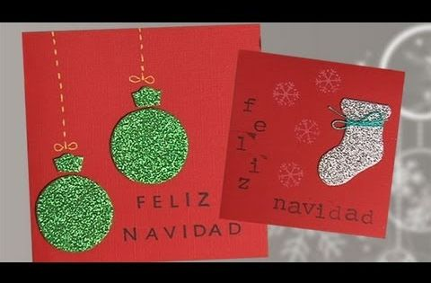 Manualidades de postales navide as para ni os c mo hacer - Hacer una tarjeta navidena ...