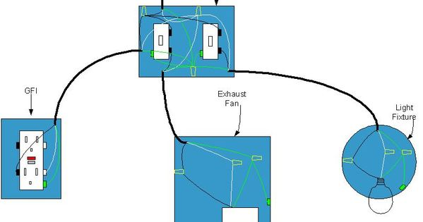 Exhaust Fan With Light electrical diagram for bathroom   Bathroom wiring diagram ...