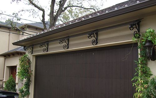 Custom Wrought Iron Trellis Garage Wall Home Builder Pool