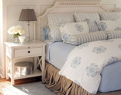 Love the colors, but would choose a different bed skirt. Relaxing Tones