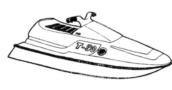 Dibujo De Una Moto Acuatica Creative Snoopy Character