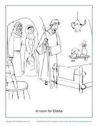 A Room For Elisha Coloring Page Bible Activities Bible Crafts