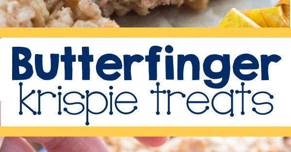 Butterfinger Krispie Treats | Recipe | Them, No bake recipes and An