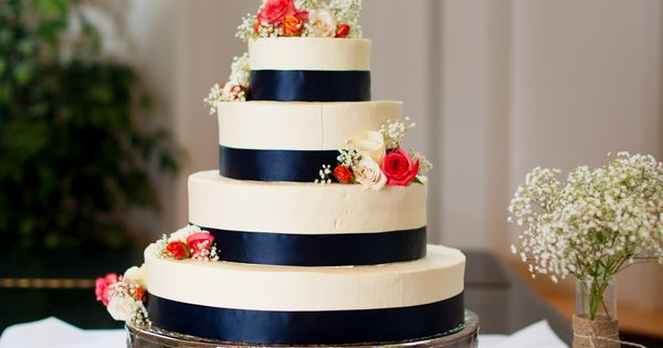 wedding cake northern va navy blue amp coral wedding cake from thea amp aaron s diy 23321