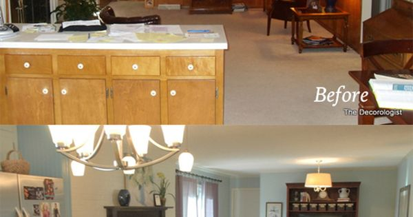 I created a before and after collage from The Decorologist