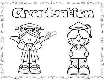 Graduation Coloring Pages Freebie Preschool Graduation Coloring Pages Kinder Graduation
