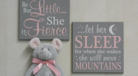 A beautiful set of two, baby nursery signs adorable addition to the