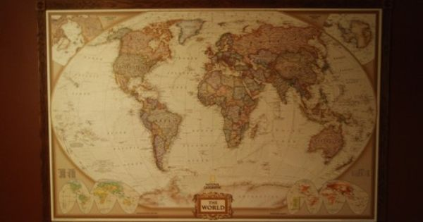 Customer image gallery for national geographic executive for Executive world map wall mural