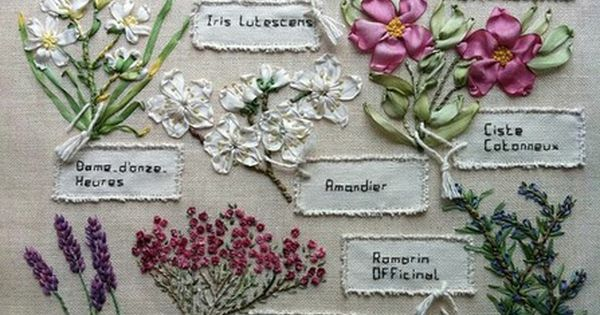 stitching ideas: herbs of provence stitchery