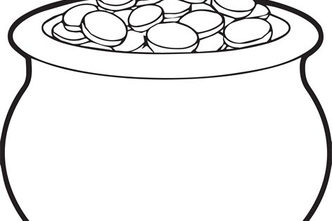 pots of gold coloring pages - photo#20