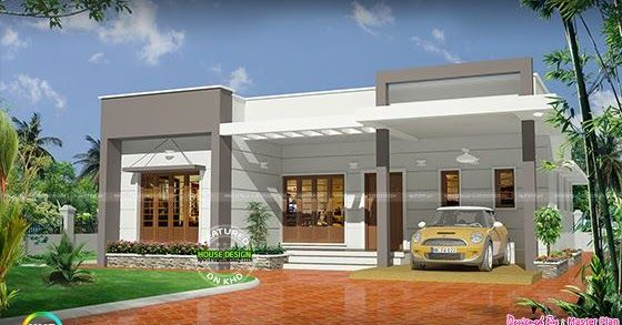 25 Lakhs Cost Estimated 3 Bhk Home Kerala House Design Single Floor House Design Bungalow House Design