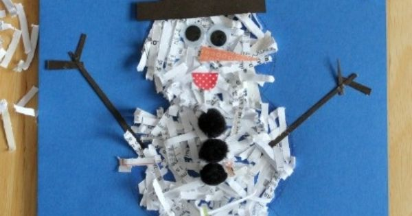 various craft ideas paper shred winter crafts just kidding winter carnival 3178