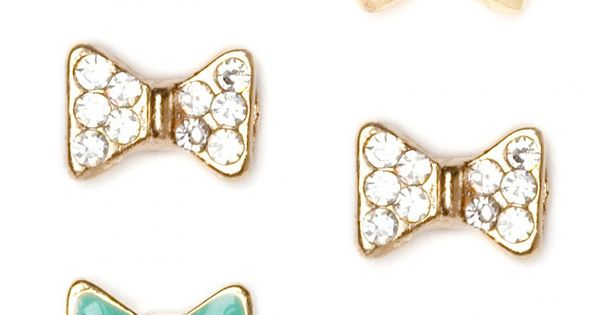 Trio Bow Earring Studs. Love!