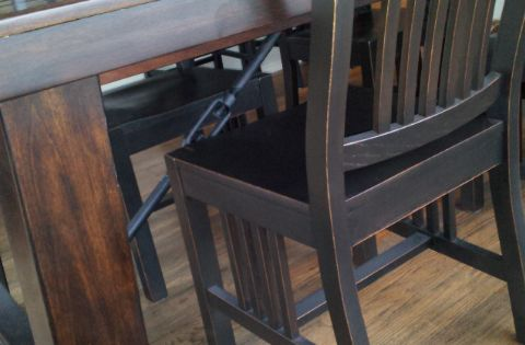 Refinishing Chairs To Match That New Cool Dark Pottery