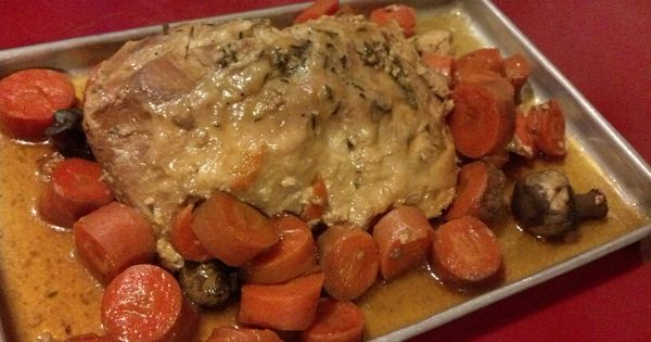 Slow cooker pork loin teriyaki with carrots and mushrooms | Food ...