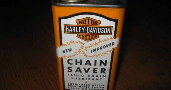 Vintage Harley Davidson Chain Saver Oil Can Motorcycle Tin Gas