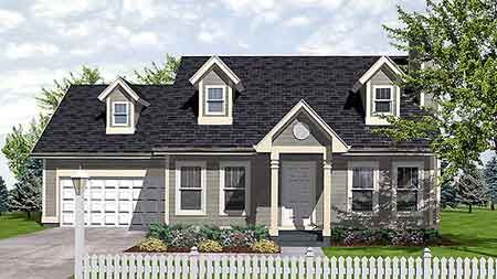 The Quincy 1673 3 Bedrooms And 2 5 Baths The House Designers Cape Cod House Plans Cape Cod Style House Cape Cod House