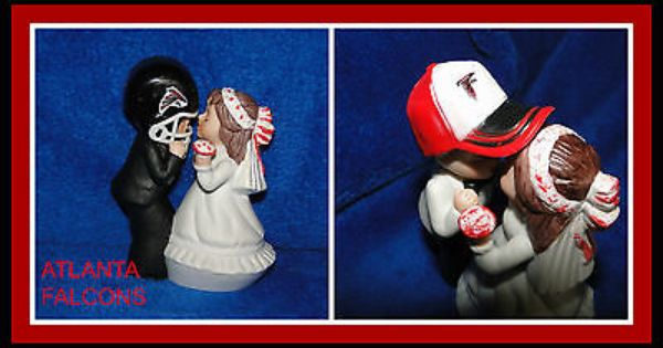 New Atlanta Falcons Kissing Bride Groom Figurine Wedding Topper Helmet Or Cap Wedding Cake Toppers Wedding S Wedding Topper Wedding Supplies Bride Groom