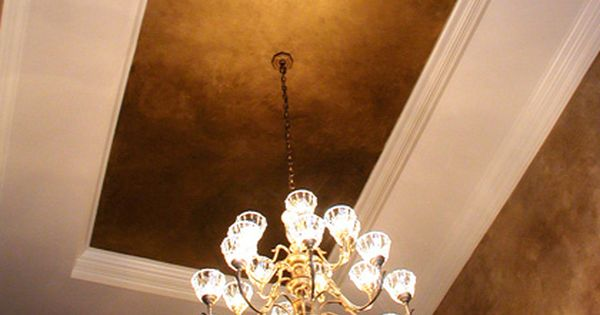 Nice metallic ceiling dramatic powder rooms with metallic for Best paint finish for bathroom ceiling