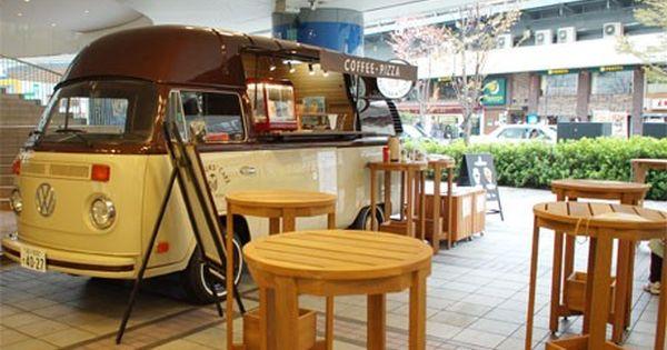 有楽町駅前にキッチンカー コーヒーは注文後ハンドドリップ 写真