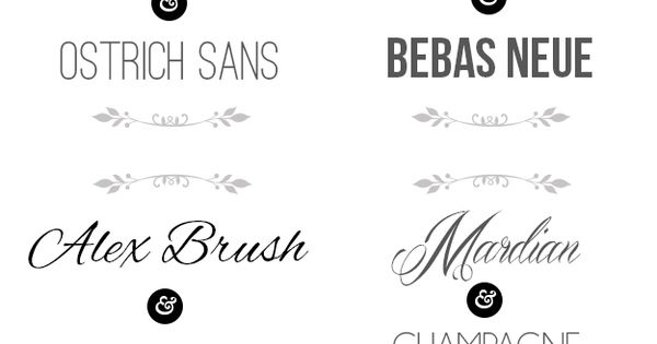 Good Font Combinations For Wedding Invitations: Example Of Fonts That We Like: Ostrich Sans, Bebas Neue
