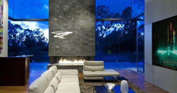 Ultra modern summit house in beverly hills haard stenen en voor het huis - Modern stenen huis ...