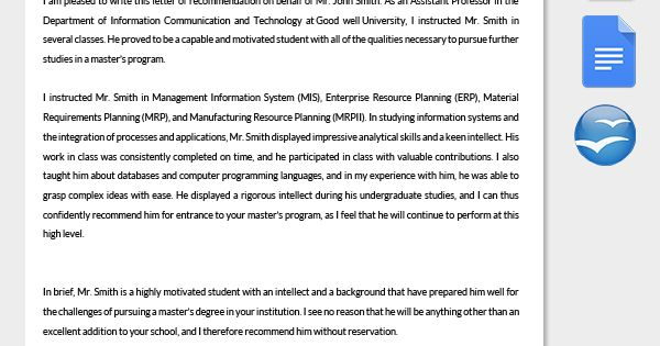 Letter of Recommendation for College Admission LEVAN Pinterest - how to write a reference letter uk