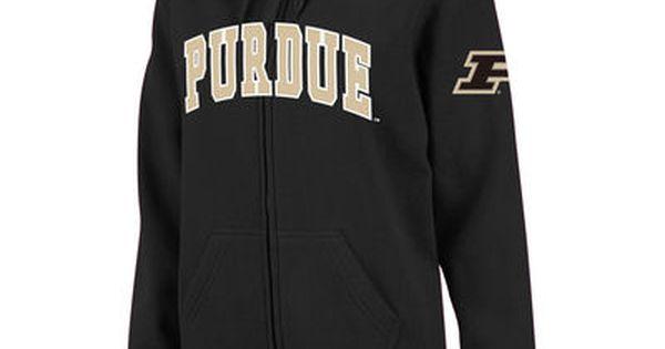 Purdue Boilermakers Athletic Arch Licensed Unisex Hoodie Black