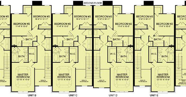 6 plex 4 2nd floor apartment house plan ideas for 4 plex apartment floor plans