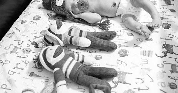 Sock Monkey Photo Newborn Photo Session | Pittsburgh Newborn Photographer