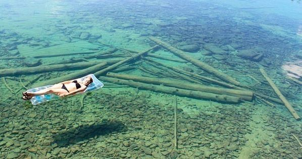 Northwest, Montana. A very, very deep lake that is so clear that