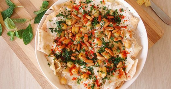 Fattet Hummus Bel Laban Lebanese Recipes Hummus Eastern Cuisine