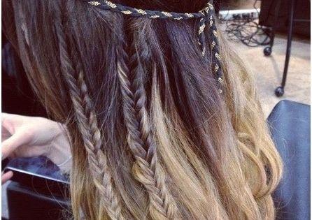 Bohemian hair style. Love