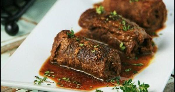 Rouladen, Beef recipes and Beef rouladen on Pinterest