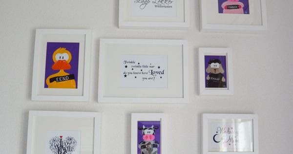 Kinderkamer met lijstjes  Kinderkamer  Pinterest  Met