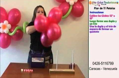 C mo hacer figuras con globos paso a paso flower - Como hacer figuras con globos ...
